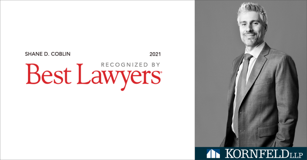 Shane D. Coblin Recognized by Best Lawyers