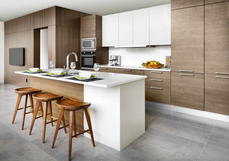 Two-bedroom condominium kitchen unit at the Independent
