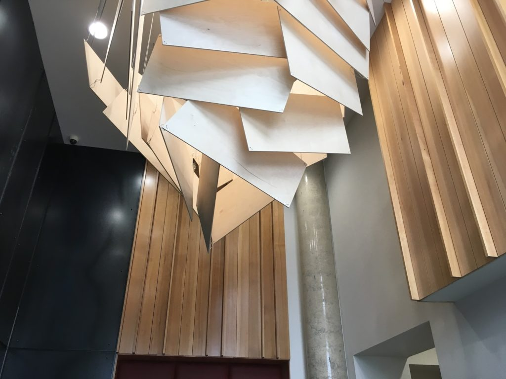 An image of the lobby of the Independent building