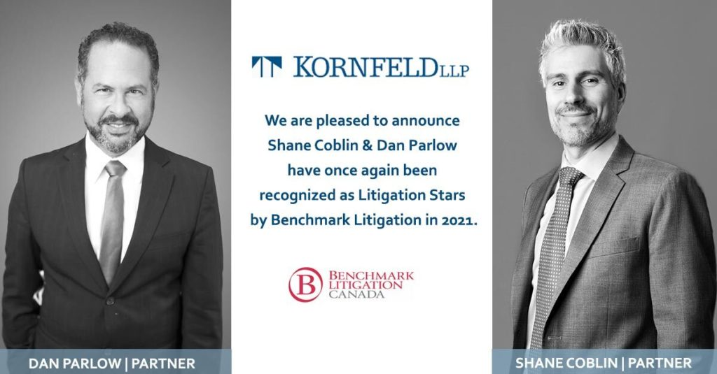 Dan Parlow and shane coblin recognized as Litigation Stars 2021